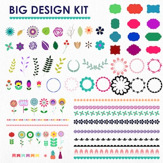Kit grande de diseño decorativo