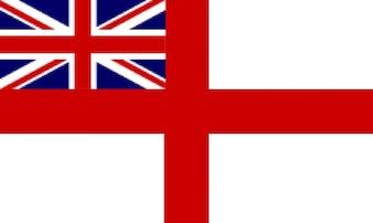 La bandera histórica de la marina real Inglés
