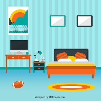 La decoración del dormitorio moderno