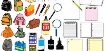 La escuela y la oficina Pack de iconos conjunto de vectores