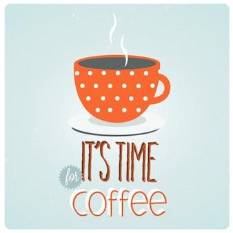 La hora del café, fondo