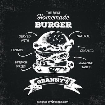 La mejor hamburguesa hecha a mano en estilo retro