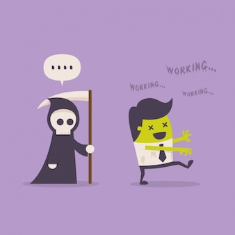 La muerte tras un empleado zombi