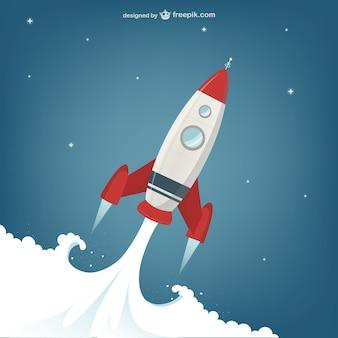 Lanzamiento de Rocket ilustración