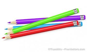 Lápices de colores vector