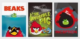 las aves película enojada carteles vector