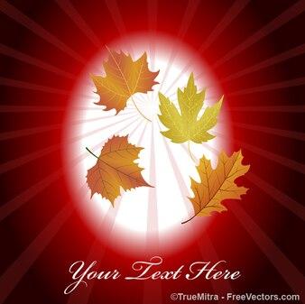 Las hojas de otoño vector de fondo de la vendimia