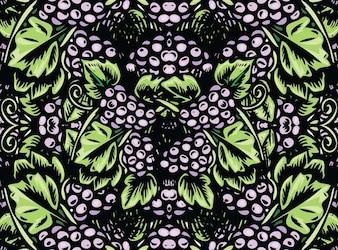 las uvas de arte vectorial