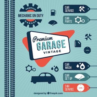 Lavado de coches vintage