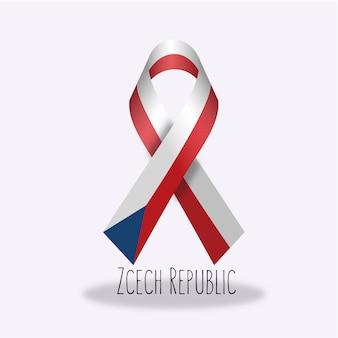 Lazo con diseño de la bandera de república checa