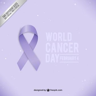 Lazo del día mundial del cáncer