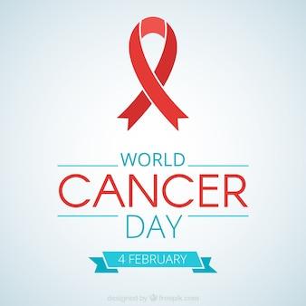 Lazo rojo del día mundial contra el cáncer