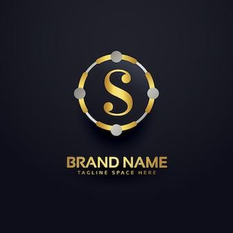 Letra s logotipo de lujo