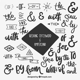 Letras para boda y ampersand