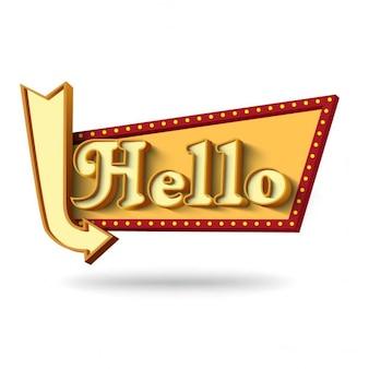 Letrero que dice hola