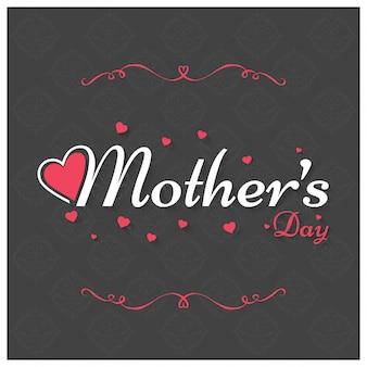 Lettering del día de la madre con ornamentos