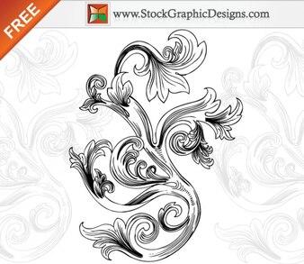 Libre de gráficos vectoriales elementos florales