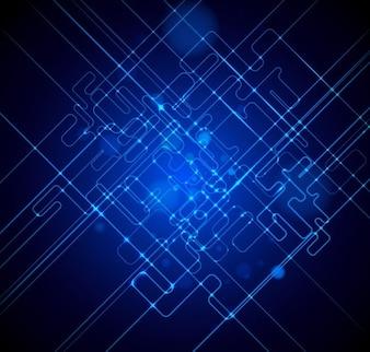 libre de la luz azul de fondo vector