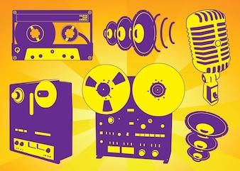 libre de vectores de la grabación de música