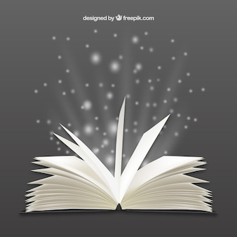 Libro abierto brillante