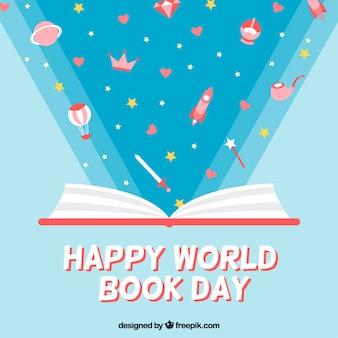 libro abierto con maravillosas historias de fondo