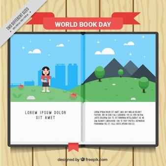 Libro abierto con una historia interesante