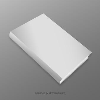Libro realista con la portada en blanco