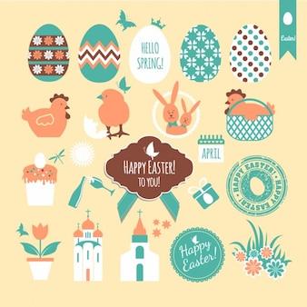 Linda colección de insignias de Pascua