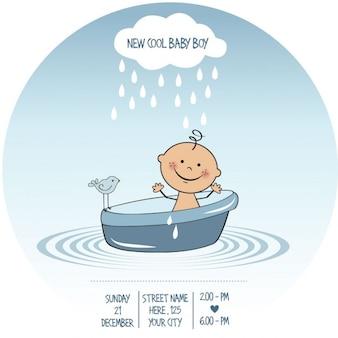 Linda tarjeta para la fiesta del bebé