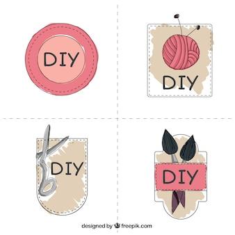 Lindas etiquetas sobre oficios artesanales