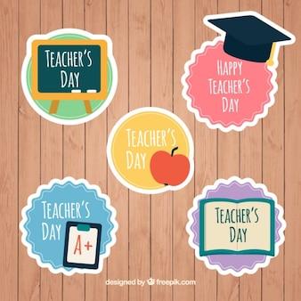 Lindas pegatinas para el día de los profesores y profesoras