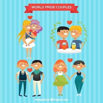 Lindas y divertidas parejas homosexuales