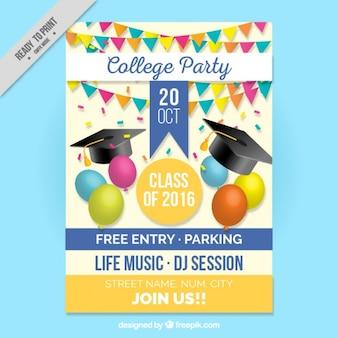Lindo cartel para la fiesta de graduación