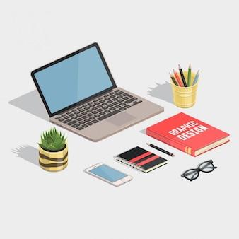 Lindo espacio de trabajo del diseñador