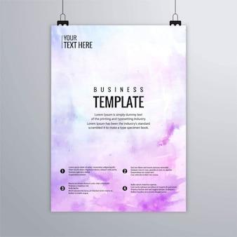 Lindo folleto artístico con acuarela violeta
