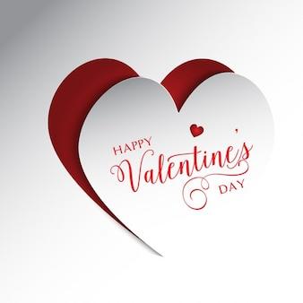 Lindo fondo de San Valentín en colores blanco y rojo