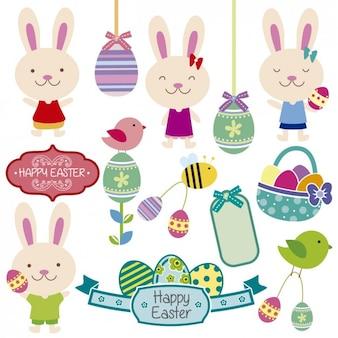 Lindos conejos de Pascua