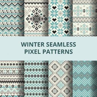 Lindos patrones pixel para el invierno