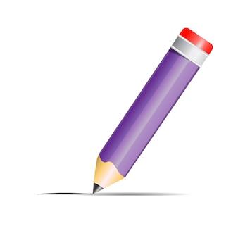 Línea de dibujo de lápiz de grafito