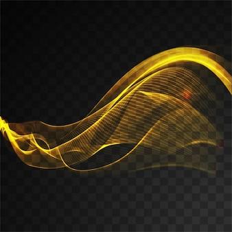 Líneas de neón flotantes onduladas