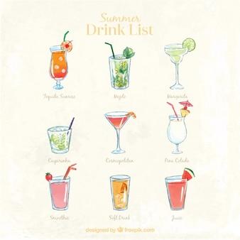 Lista de bebida bonita