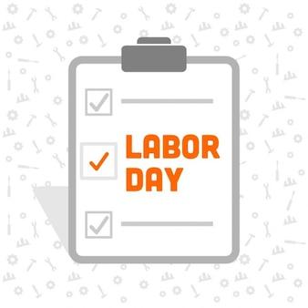 Lista de comprobación del día del trabajo