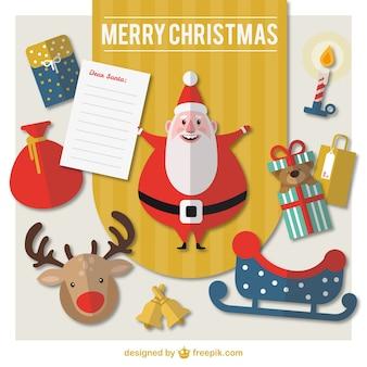 Lista de navidad plana