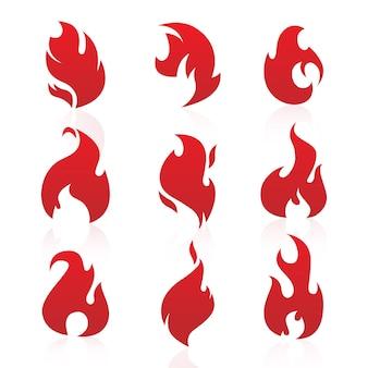 Llamas de fuego