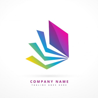 Logo abstracto con forma colorida