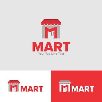 Logo abstracto de tienda