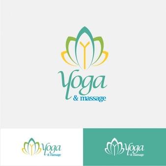 Logo abstracto de  yoga
