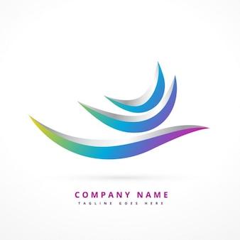 Logo abstracto en 3d