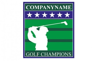 Logo campeones de golf