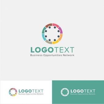 Logo circular en estilo colorido